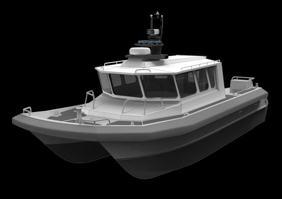 The M2: Diesel Water-jet Outboard Catamaran